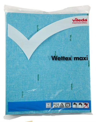 Vileda sponsdoekje wettex blauw 26x32cm 10 stuks