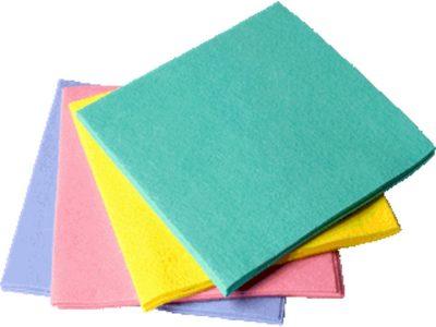 Sopdoek roze eenmalig gebruik 38x40cm 10 stuks