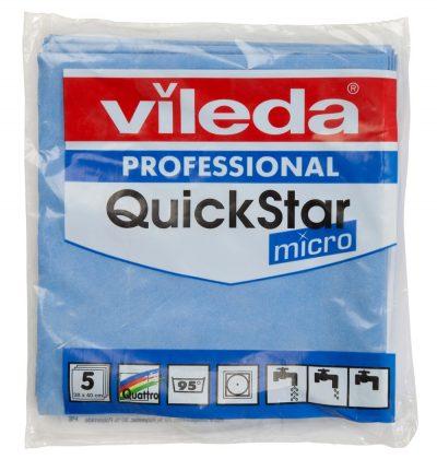 Vileda quickstar blauw 5 stuks