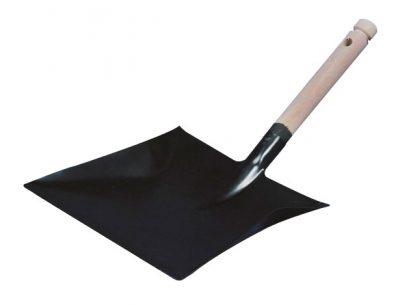 Vuilblik zwart metaal houten handvat