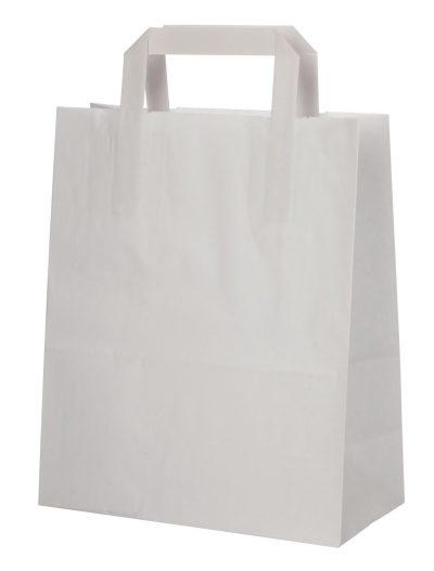 Draagtas wit papier 22x11x27 500 stuks