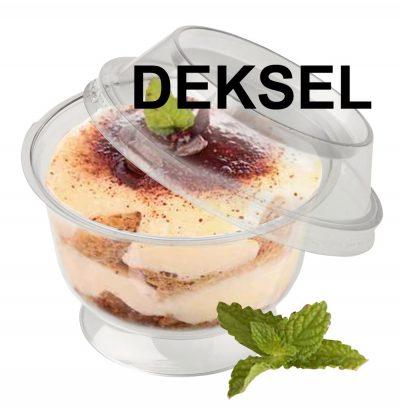 Deksel dessertpot voor ref 7040450 600 stuks