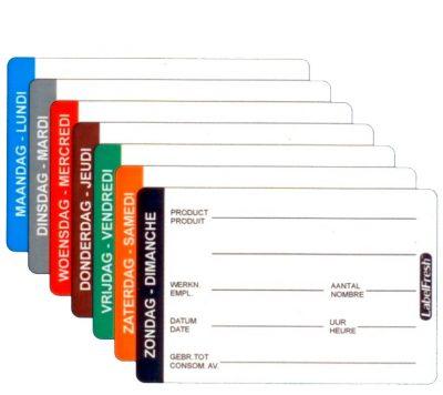 Labelfresh etiketten maandag 500 stuks