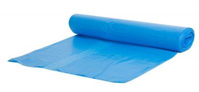 Vuilzak 65x25x140cm blauw t70 10 rollen 100 stuks