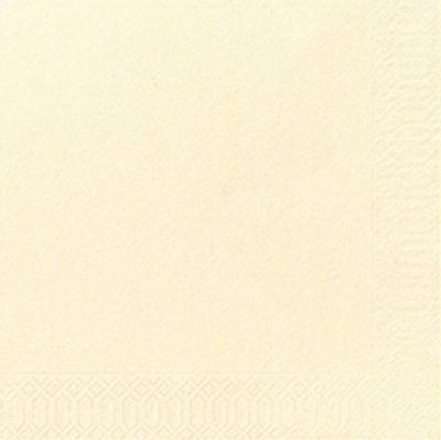 Servetten buttercream 33x33 2ply 16x125 stuks