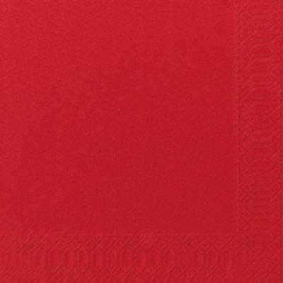 Servetten rood 33x33 2-laags 16x125 stuks