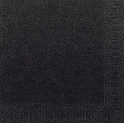 Servetten zwart 33x33 2pl. 16x125 stuks
