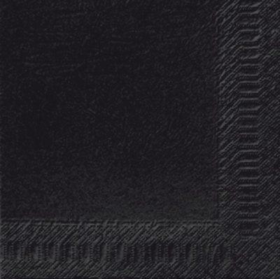 Servetten zwart 40x40 2-laags 10x125 stuks