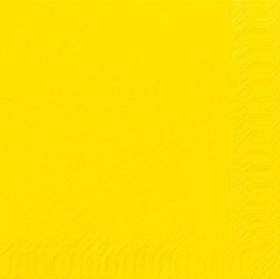 Servetten geel 40x40 3-laags 4x250 stuks