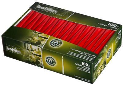 Kaars gotisch rood bolsius 245x24 100 stuks