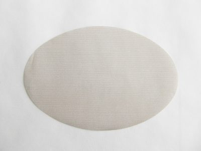 Ovalen linnen grijs 16x24cm 500 stuks