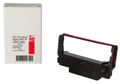 Inktlint epson erc 30-34-37 zwart-rood