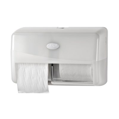 Euro pearl white duo toiletrolhouder
