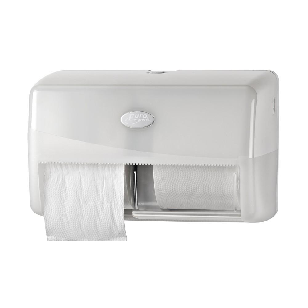 Euro pearl white duo toiletrolhouder
