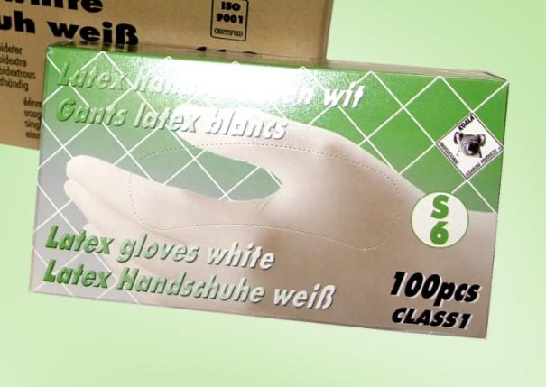 UITVERKOCHT: Wegwerphandschoenen latex wit xl 100 stuks