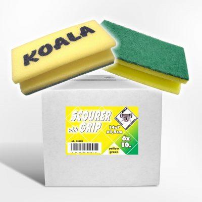 Schuurspons geel groen 14x7x4.5cm kssyg