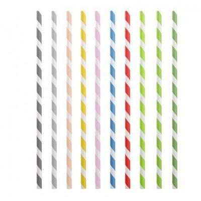 Rietjes papier 20cm div.kleuren 250st