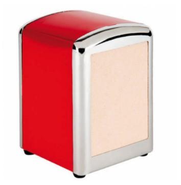 Servetdispenser mini rood inox