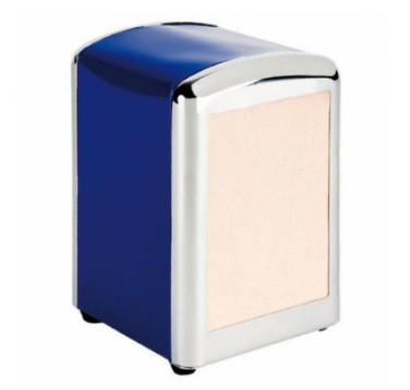 Servetdispenser mini blauw inox