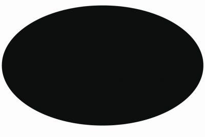 Ovalen zwart 15x22cm 2000st