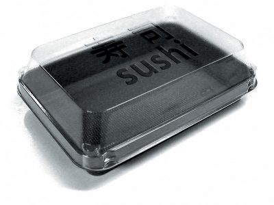SUSHIBOX OCTA 1COMP.35CL ZWART/TR